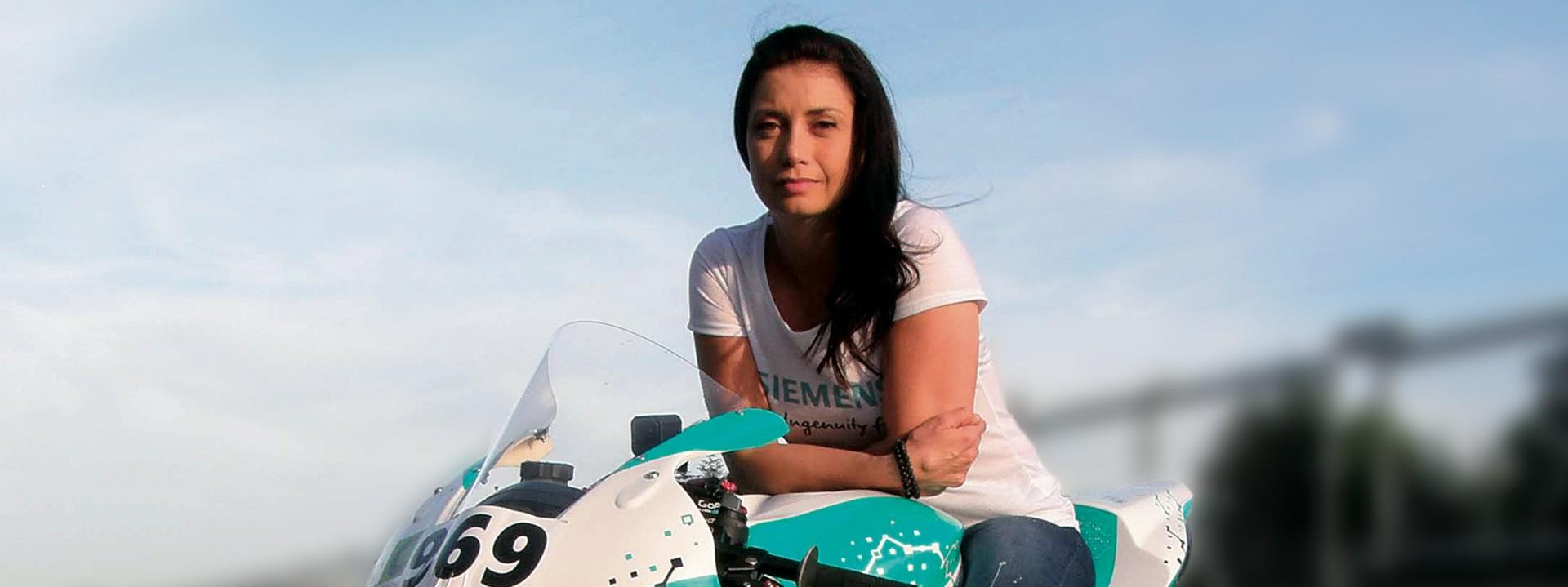 Racing motorbike with MindSphere